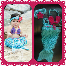 Baby Mermaid Outfit, crochet, halloween, costume, photo, prop set, shower gift G