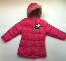 NWT Vertical 9 Girls Puffer Winter Coat Jacket With Faux Fur Trim Hood