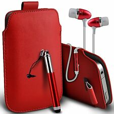 Pull Tab Pouch Phone Case?In Ear Headset?Stylus Pen for Samsung Galaxy S4 Mini
