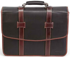 New F1174 KORCHMAR Chester Leather Litigator Checkpoint Friendly Briefcase $511
