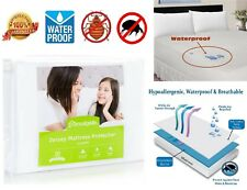 Mattress Protector Size Twin King Queen Cover Bug Allergy Dust WATERPROOF Bed
