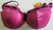 By Caprice Lingerie Electra Plunge Bra (Fuchsia Pink and Black)