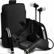 Accessory Pack✔Pull Tab Pouch Case✔Stylus Pen✔Swivel Car Holder+Charger✔Headset