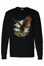 Long Sleeve Shirt Bald Eagle In Nature Mountains Wildlife American Pride Symbol