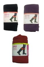 Ladies Plain Fleece Welly Socks / Boot Liners ~ Black, Red or Purple