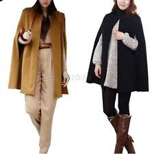 Women's Casual Cape Cloak Parka Outwear Jacket Overcoat Wool Trench Coat Hot C12
