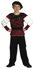 Child Boys Renaissance Tudor Medieval Prince Fancy Dress Costume S M L CC540/1/2