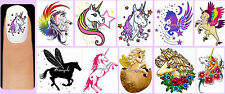 60x UNICORNS Nail Art Decals + Free Gems Pegasus Wing Winged Horse Horn