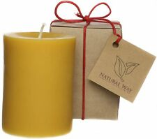 100% Pure Beeswax Pillar Candle 3x4''