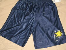 NBA Indiana Pacers Basketball Warm Up Shorts Mens Sizes Blue Polyester Nwt