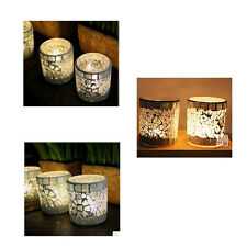 Mosaic Glass Candle Holder Modish Tea Light Candlestick Home Party Wedding Decor