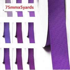 """by 5 yards grosgrain ribbon 3"""" /75mm for wedding , lilac purple s color"""