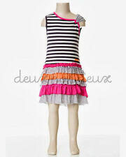 Deux Par Deux Girls Eye on Fashion Frill Dress Nine Iron