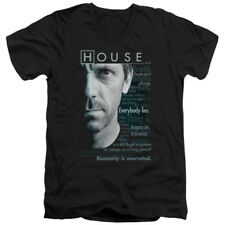 House MD Medical Drama TV Series Fox Hugh Laurie Houseisms Adult V-Neck T-Shirt