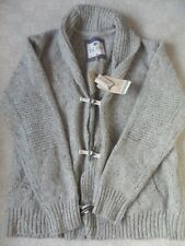 FAT FACE OATMEAL MARL TEXTURED HEAVY KNIT WOOL BLEND SHAWL NECK CARDIGAN SIZE M
