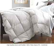 New 95% Down 5% Feather Comforter Theak Heavy Fill Weight  Bed Comforter White