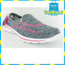 BRAND NEW - Skechers 13942 Go Walk Womens Casuals slip on shoes - ALL SIZES grey
