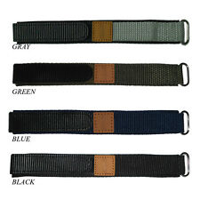 Nylon Watch Strap 20mm Watch Band Black Blue Grey Green Sport Watchband For Man