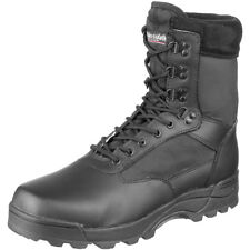 Brandit Tactical Military Combat Boots Security Police Leather Footwear Black