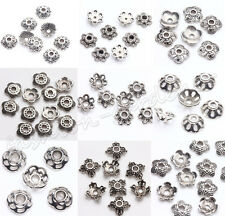 200 Tibet Silver Loose Spacer Bead Caps Charm Craft Jewelry Finding  5/6/7/8/9mm