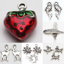 Wholesale Tibet Silver Metal Loose Spacer Beads Pendants Jewelry Making DIY
