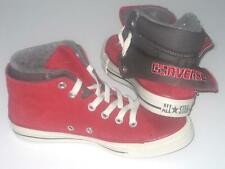 New CONVERSE CT PC SIDE ZIP MID Red Suede Trainers 136429C