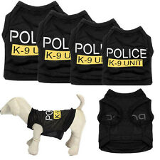 Hot Sale Dog Vest Police Puppy T-Shirt Coat Pet Clothes Summer Apparel Costumes