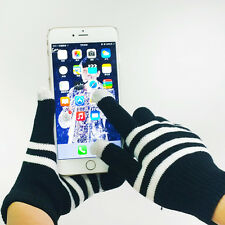 1 Pair New Unisex Winter Magic Touch Screen Knitted Gloves Smartphone Texting