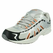 "Airtech Mens Trainers, Sliver and Orange ""STINGRAY"" UK (R6)"