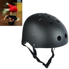 Black Safety Roller Skate Skateboard Scooter Bike BMX Protection Helmet Unisex