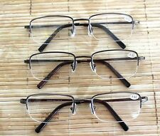 HALF RIM HALF FRAME READING GLASSES CHEATERS SPECS WITH SPRING HINGE