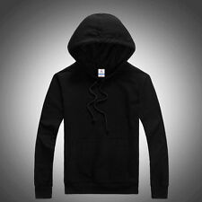 Trendy Hooded Plain Sweatshirt Men Women Pullover Hoodie Fleece Cotton Blank