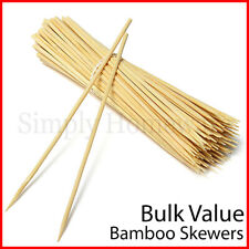 Bamboo Skewers 5mm Wooden Skewer BBQ Kebab Meat Bulk Cheap Stick Party - 25 30cm