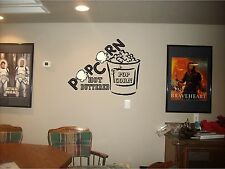 Popcorn Wall Art Movie Cinema Theater Room mural graphic decor sticker decal