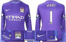 *15 / 16 - NIKE ; MAN CITY HOME GK SHIRT LS + PATCHES / HART 1 = SIZE*