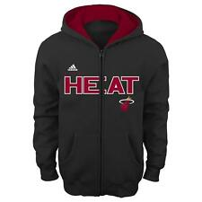 "Miami Heat Youth NBA Adidas ""Stated"" Full Zip Hooded Sweatshirt"