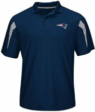 NWT Majestic New England Patriots Mens Big & Tall Field Classic Synthetic Polo