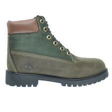 Timberland 6Inch Premium Big Kids Waterproof Boots Brown/Green tb0a14z2