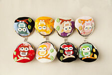 Japanese Silk Lucky Cat cute Owl Coin Change Wallet Purse Bag 8 color gift