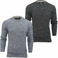 Mens Jumper by Brave Soul 'Gomez' Twist Knit Crew Neck Knit Top S-XL