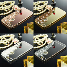 Luxury Aluminum 3D Diamond Bling Mirror Metal Case Cover for iPhone Models