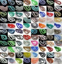 Wholesale Rondelle Faceted Crystal Glass Loose Spacer Beads Finding3/ 4/6/8/mm
