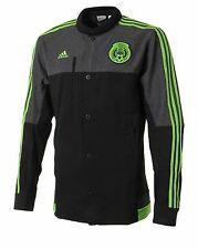 Adidas Men FMF Mexico Anthem Track Top Jackets Black Football Soccer GYM M36373