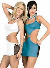 NWT Lot 4048 Sexy Blue White Clubwear Mini Dress Top Dance Exotic Rave S M L XL