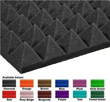 """48 Pack (12x12x2)"""" Pyramid Acoustical Foam Panel for Soundproofing Home Studio"""