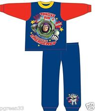 Boys Buzz Lightyear Toy Story Pyjamas 18-24 Months 2-3 3-4 4-5 Years Red & Blue