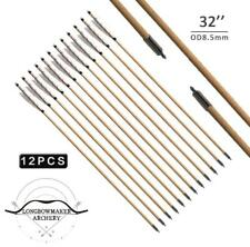 White MEDIEVAL Wooden Arrows Handmade Shaft for Bow Archery Practice New