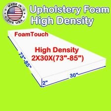 "High Density #FoamTouch Upholstery Foam size 2"" X 30"" X (73-85)"" Custom Cut"