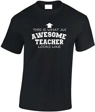 This is What an Awesome Teacher looks like T shirt New Gift Funny Gift