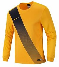 NIKE Youth Dri-Fit Soccer Sessi Jersey L/S Yellow Shirts Junior Team 645913-739